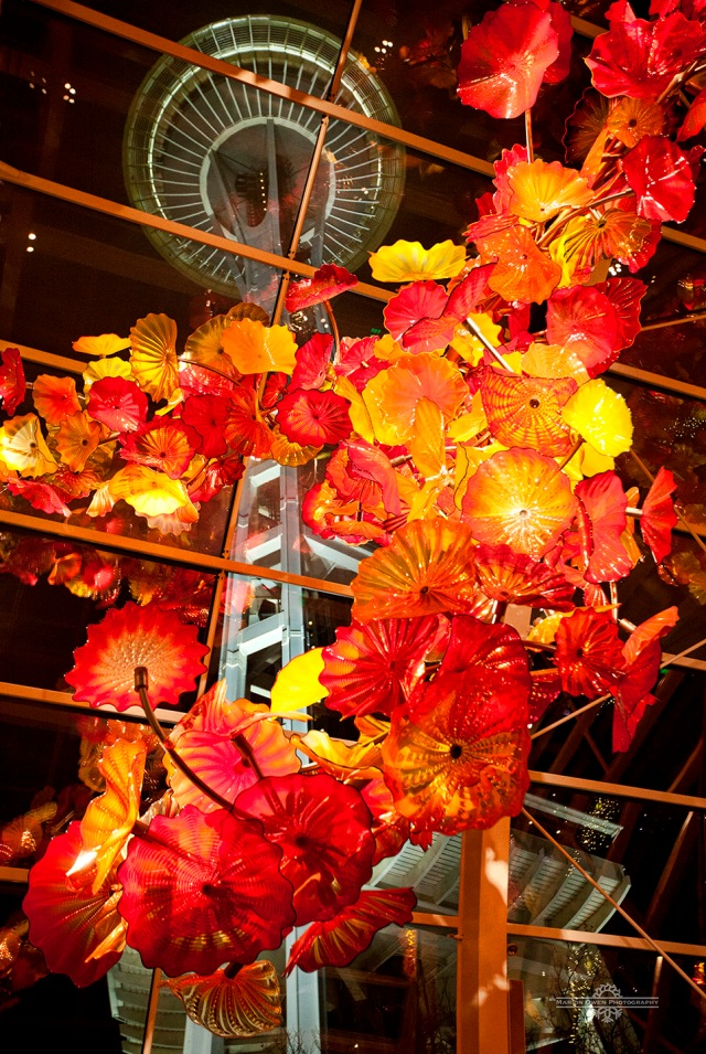 Chihuly Garden and Glass, Seattle, Space Needle, glass, exhibit, Dale Chihuly