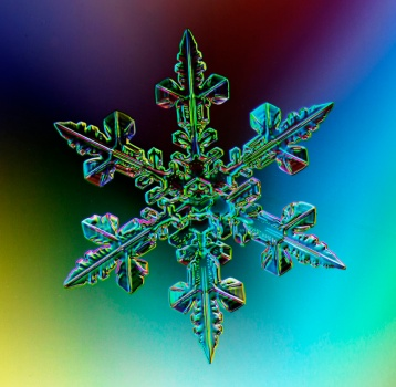 Snowflake, real snowflake, Haight Ashbury, snow crystal, rainbow