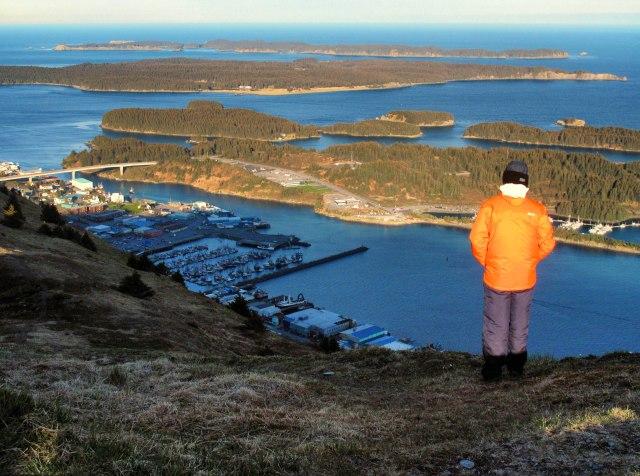 Kodiak, Alaska, island, Pillar, Mountain, city, harbor, islands