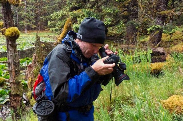 Hoodman loupe, photography, workshop, Kodiak, Alaska, photo, whales, camera, tool, pond, lilies