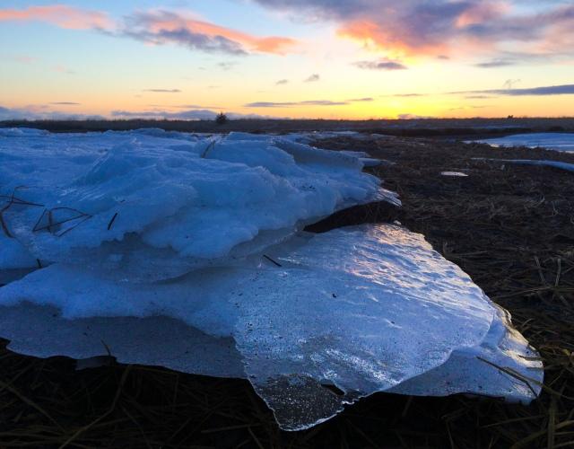 Winter, river, ice, sunrise, Alaska, Kodiak, photographer, photography, landscape, iPhone photo, picture, photo, camera