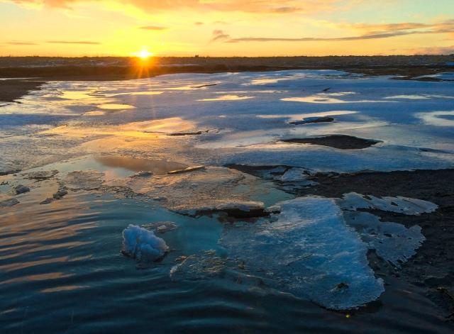 Alaska, Kodiak, photographer, photography, landscape, iPhone photo, picture, photo, camera, sunrise, ice, river, winter