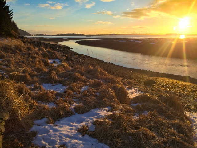 sunrise, Kodiak, Alaska, river, Pacific Ocean, Alaska, Kodiak, photographer, photography, landscape, iPhone photo, picture, photo, camera
