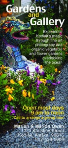 Gardening, Alaska, Kodiak, tours, tourism, trips, Kodiak Island, Marion Owen, Galley Gourmet, photography