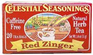 red zinger tea, celestial seasonings