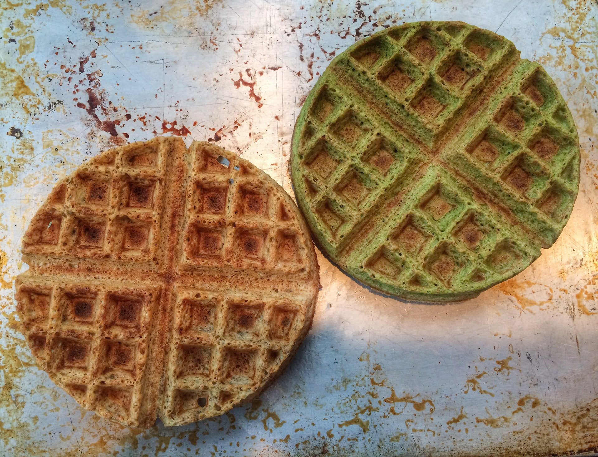 Green eggs and waffles: A recipe my grandmother would avoid