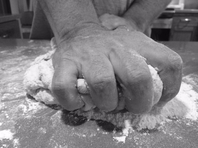Bread, French, how to make bread, knead, kneading, baking, flour, homemade, baguette
