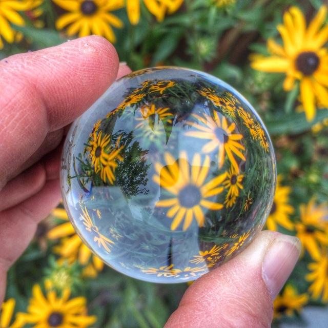 Crystal ball, photos