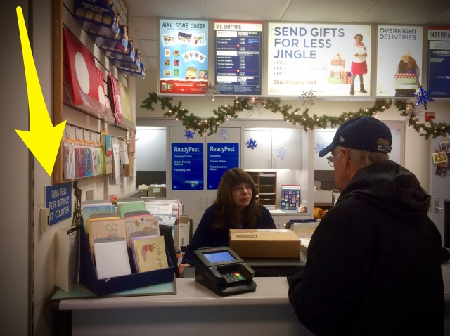 Christmas, gifts, mail, post office, Alaska, snow, landscape