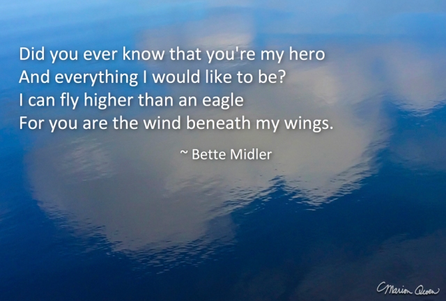 Bette Midler, wings, Marion Owen, photo, hospice