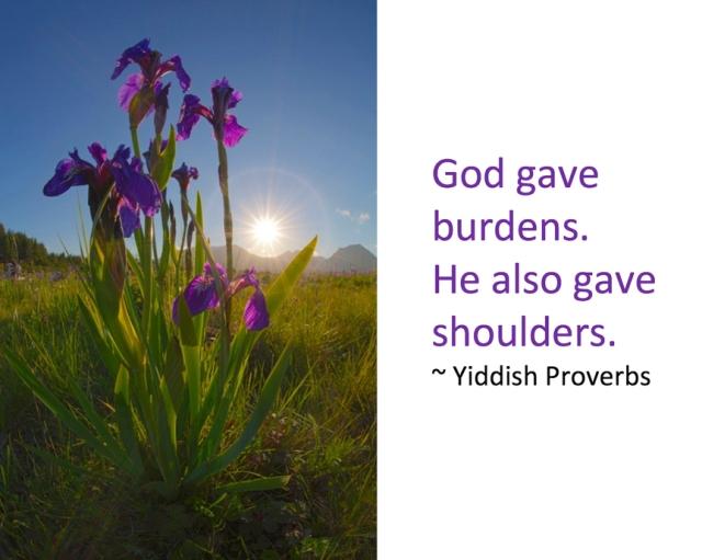 God gave us burdens, Marion Owen, photo, hospice