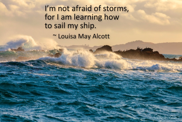 Louisa May Alcott, storms, hospice, poster, Marion Owen, photo