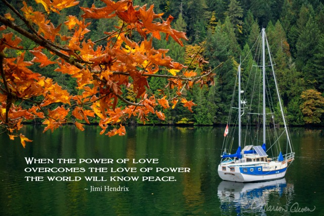 posters, peace, prayer, quote, quotations, photograph, Kodiak, Alaska, Marion Owen, love, power, Jimi Hendrix