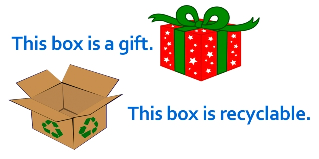 recycle, Christmas, cardboard, fiber, precycle, reuse, recyclable, boxes