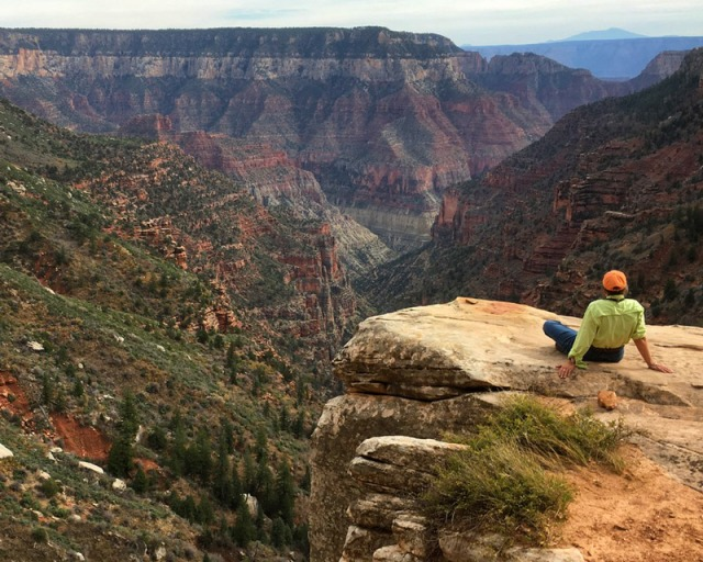 Taking it all in while hiking in Grand Canyon National Park's North Rim. More than the grandness, I liked The Big Quiet.