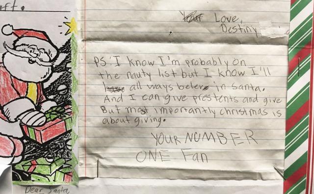 Letter to Santa, Santa, giving, gifts, naughty, Christmas