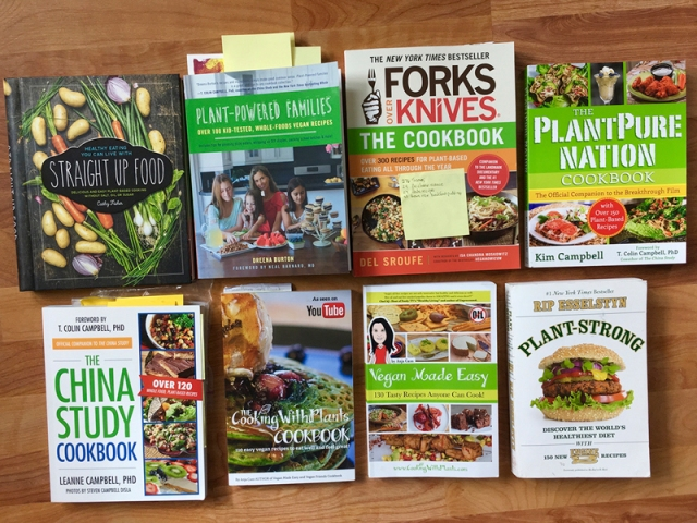 Plant based recipes cookbooks