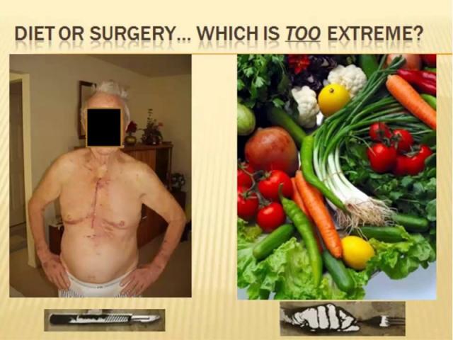 Open heart surgery prevention diet