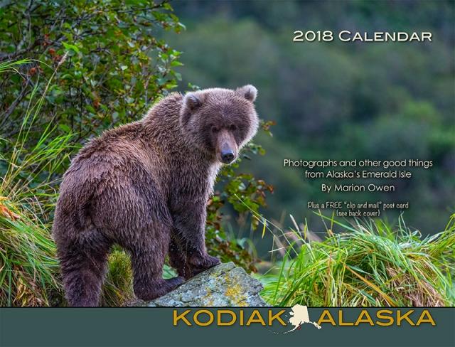 calendar, bears, Kodiak, Alaska, photographs, nature, scenics, 2018, wall calendar, Marion Owen, photography, recipes, quotations